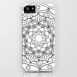 Mandala black 2 iPhone Case