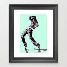 B GIRL Framed Art Print