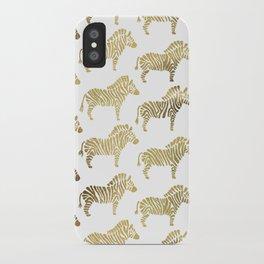 Golden Zebras iPhone Case