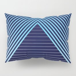 Chill Vibes Blue Lines Pillow Sham