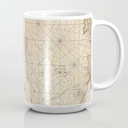 1683 Map of North America, West Indies, and Atlantic Ocean Coffee Mug