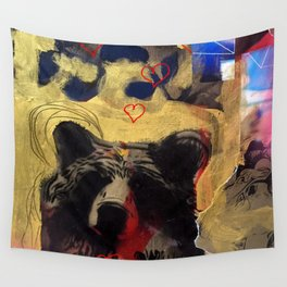Bear Love Wall Tapestry