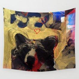 Bear Love Wall Tapestry