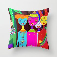 It happens at dark Throw Pillow