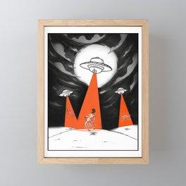 UFO Illustration Erotica Framed Mini Art Print