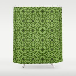 Greenery Lace Shower Curtain