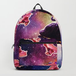 Rave Space Cat On Turtle Unicorn - Bacon Backpack