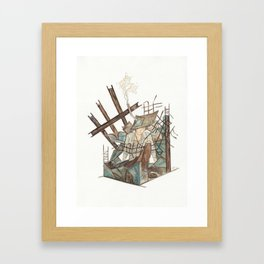 Metal + Concrete (Alone in my Room) Framed Art Print