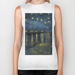 Vincent Van Gogh - Starry Night Over the Rhone Biker Tank