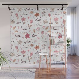 Floral Love Letter Wall Mural