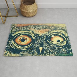 Buho owl animal graffiti drawing Rug