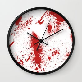 Blood Spatter Wall Clock