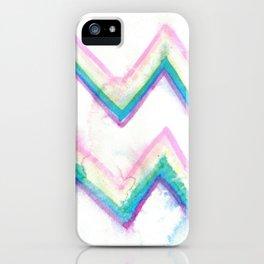 watercolor zig zag iPhone Case