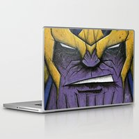 thanos Laptop & iPad Skins featuring The Mad Titan by chris panila