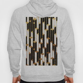 Marble Skyscrapers - Black, White and Gold Hoody
