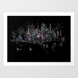 London Soho Madness Art Print