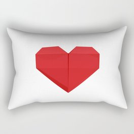 Origami Heart Rectangular Pillow