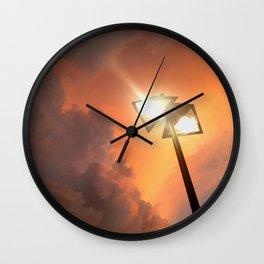 San Francisco Sky at Dusk Wall Clock