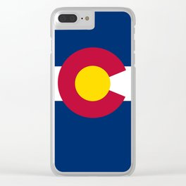 Colorado state flag (High Def file) Clear iPhone Case