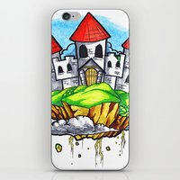castle in the sky iPhone & iPod Skins featuring Castle In The Sky by Factory Three