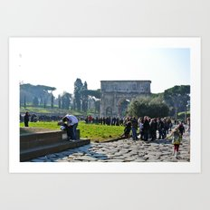Around the Colosseum  Art Print