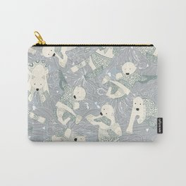 arctic polar bears silver Carry-All Pouch