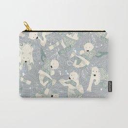 arctic polar bears silver Carry-All Pouch