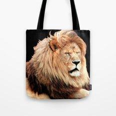 Sleepy Lion (Panthera leo) Tote Bag