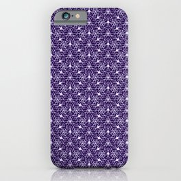 Feminine Energy Deep Purple and Lavender Lines Female Spirit Organic iPhone Case