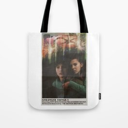 July 4th 1985 / Hawkins [ Mike + Eleven Poster ] Tote Bag