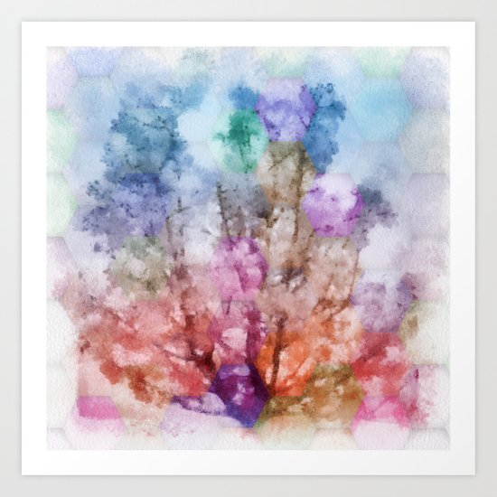 Independent tree  Art Print