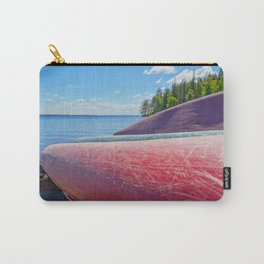 Kayaks on Lake Shore at Summer Carry-All Pouch