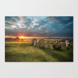 Drombeg Stone Circle Canvas Print
