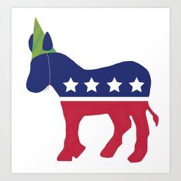 Wheres the Party at Democrat Art Print