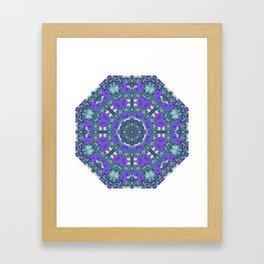 Purple Rose Kaleidoscope Framed Art Print