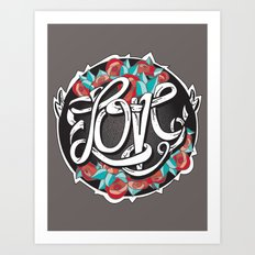Love -Ribbon-Word Art Print