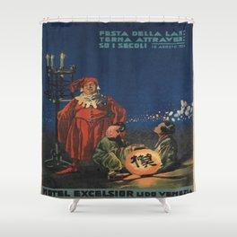 Vintage poster - Hotel Excelsior Shower Curtain