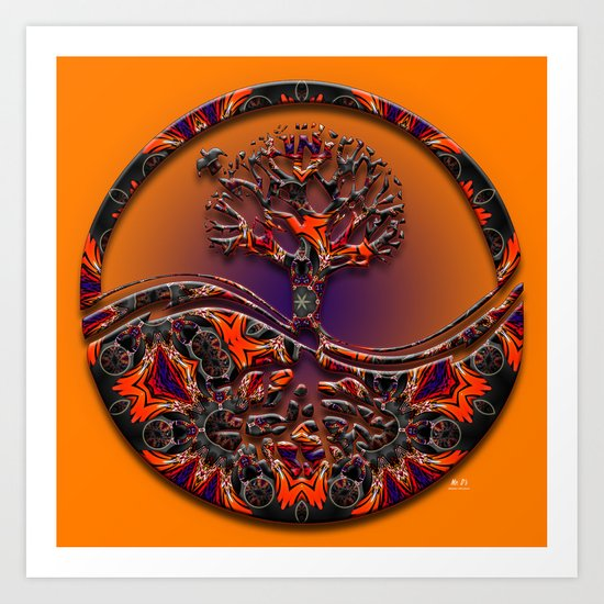 Tree Of Designs Art Print