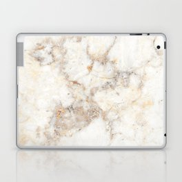Marble Natural Stone Grey Veining Quartz Laptop & iPad Skin