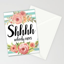 Shhh Shut up Stationery Cards