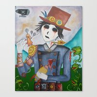 steampunk Canvas Prints featuring Steampunk by Lynne Gryphon