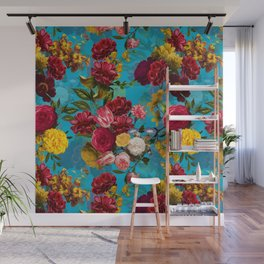 Vintage & Shabby Chic - Midnight Botanical Flower Tropical Garden Wall Mural