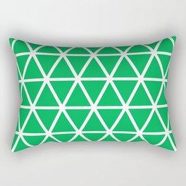 Green Triangle Pattern 3 Rectangular Pillow
