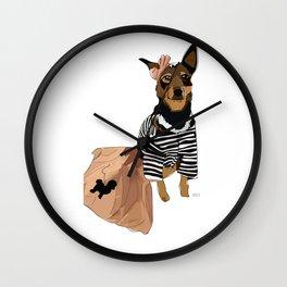 Grease Lightning Dog Wall Clock