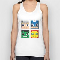 superheros Tank Tops featuring Earth Defenders by Jconner