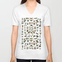 insects V-neck T-shirts featuring Insects by Noughton