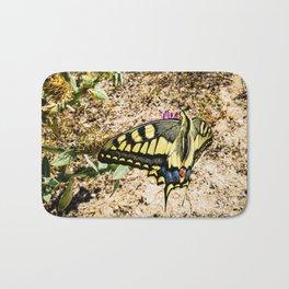Yellow Swallowtail butterfly Bath Mat