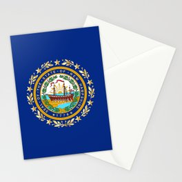 New Hampshire State Flag Stationery Cards