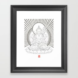 Chenrezig - The Unblinking Gaze Framed Art Print