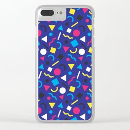 Retro Pattern (Brights) Clear iPhone Case